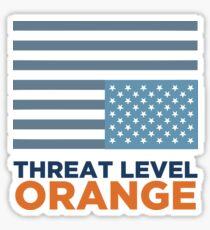Threat Level Orange Sticker