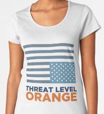 Threat Level Orange Women's Premium T-Shirt