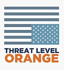 Threat Level Orange Photographic Print