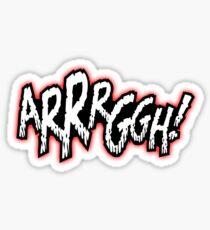 Comic Crazy - ARGH Sticker