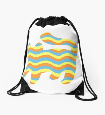 Wavy Cat Drawstring Bag