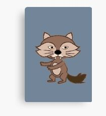 Little Bad Wolf Canvas Print