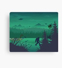 Cryptid Forest Canvas Print