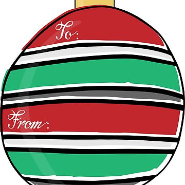 Ornament Gift Tag - Bright Stripes by katsprintbtq