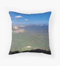 Blue Valley Throw Pillow