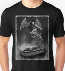 Female Vampire Black and White Fantasy Art Illustration T-Shirt