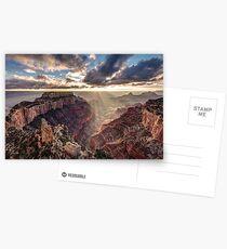 Sun Rays At Cape Royal Postcards