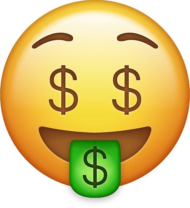 Pegatinas «cara de dinero emoji» de allihessel   Redbubble