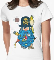 Pirate Portrait Women's Fitted T-Shirt