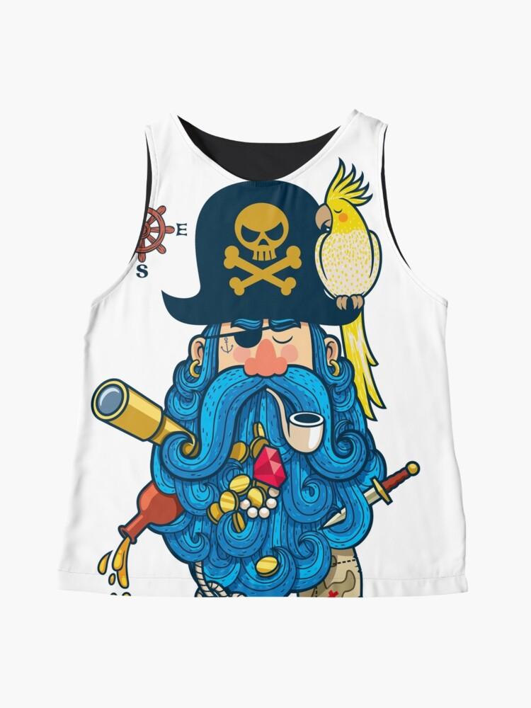 Vista alternativa de Blusa sin mangas Retrato pirata