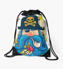 Pirate Portrait Drawstring Bag