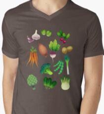 Farmers Market T-Shirt mit V-Ausschnitt