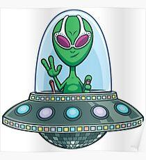 Alien Flying Saucer Poster