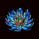 Bizarre Multi Eyed Blue Water Lily Flower by Boriana Giormova