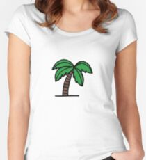 palm  Women's Fitted Scoop T-Shirt