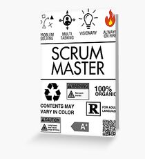 Scrum Master - Always on Fire Greeting Card