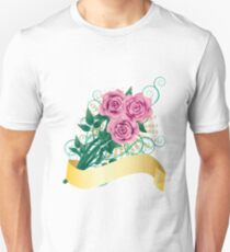 Card with pink roses Unisex T-Shirt