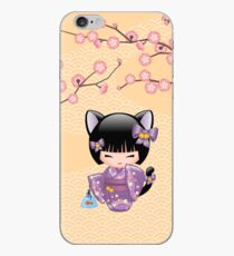 Neko Kokeshi Doll V2 iPhone Case