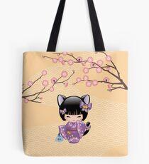 Neko Kokeshi Doll V2 Tote Bag