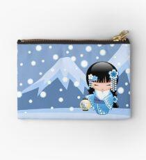 Winter Kokeshi Doll V2 Studio Pouch