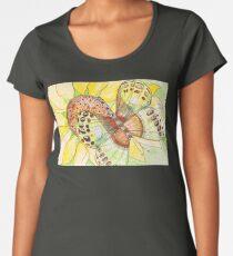 Butterfly on a Sunflower Women's Premium T-Shirt