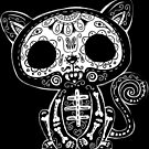 Day of the Dead Kitty by wottoart