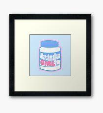 Marshmallow Girl - Creme ver. Framed Print