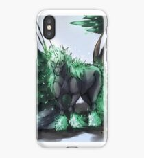 Forest Unicorn Digitally Colored Pen Sketch  iPhone Case/Skin