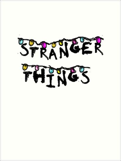 Stranger Things Christmas Lights Png.Stranger Things Christmas Lights Art Print By Mscristamarie