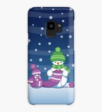 Knitting Snowman Case/Skin for Samsung Galaxy