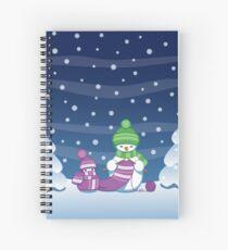 Knitting Snowman Spiral Notebook