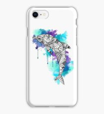 Water Colour Dolphin iPhone Case/Skin