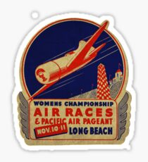 Air Races Long Beach 1934 Sticker