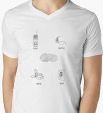 Stranger Things Characters Men's V-Neck T-Shirt