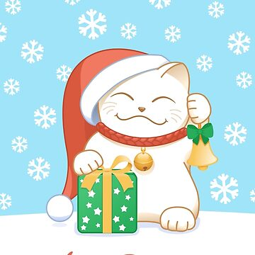 White Christmas Cat by chibibikun