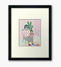 a guy & his little guy Framed Print