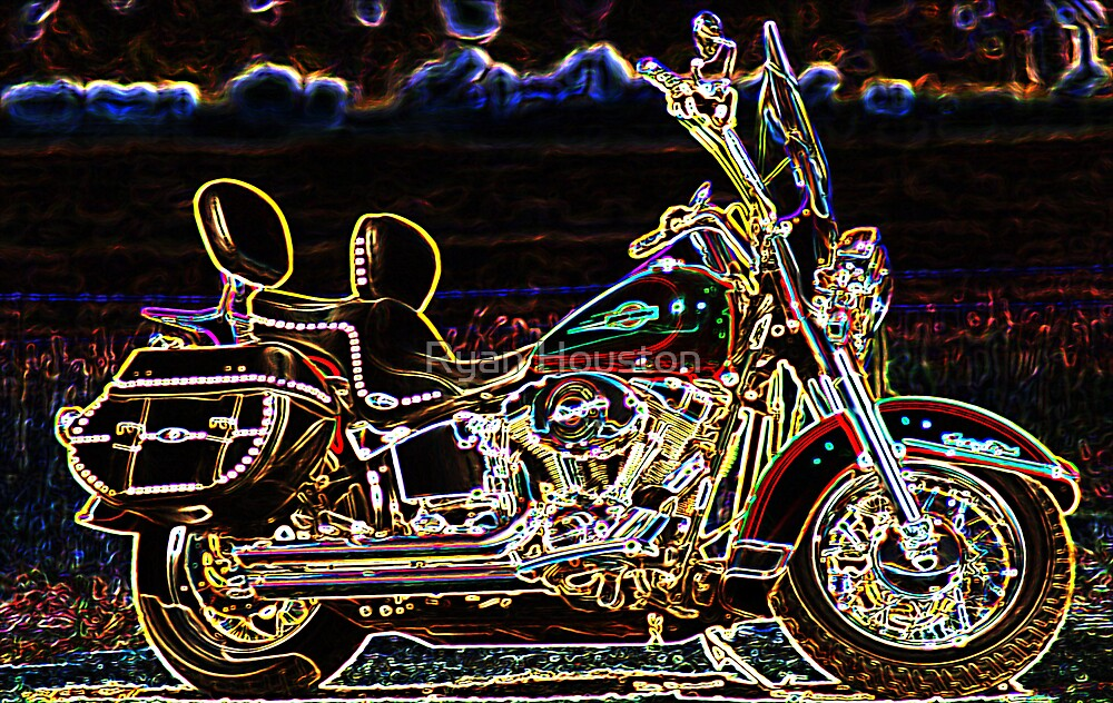 Neon Motorcycle by Ryan Houston