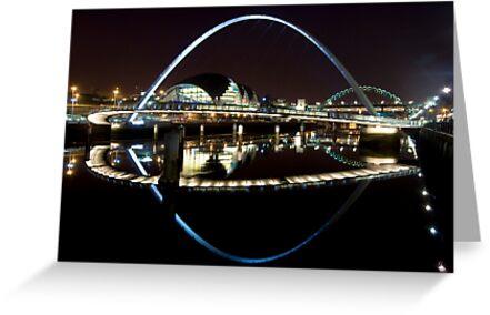 NewcastleGateshead Quayside By Night by KevM