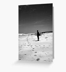Loney surfer Greeting Card