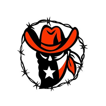 Texan Outlaw Texas Flag Barb Wire Icon by patrimonio