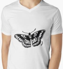 Butterfly Tattoo Mens V-Neck T-Shirt