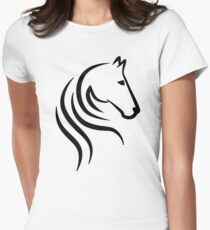 Horse head Women's Fitted T-Shirt