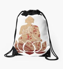 Buddhist Monk Drawstring Bag