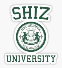 shiz university design Sticker