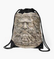 Old man Drawstring Bag