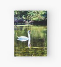 Swans At The Lake Hardcover Journal