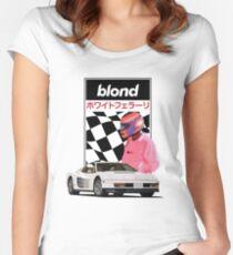 White Ferrari  Women's Fitted Scoop T-Shirt