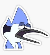 """Drunk"" Mordecai (Regular Show) Sticker"