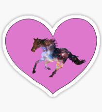 i love space horses  Sticker
