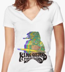King Gizzard Lizzard Women's Fitted V-Neck T-Shirt